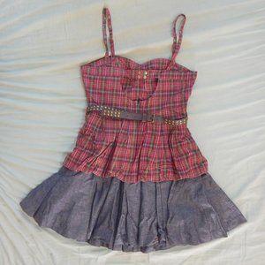 Twelve by Twelve Dresses - Plaid & Denim Dress